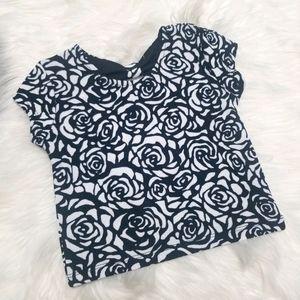 2/10🎆 George Black White Flower Girl Short Sleeve